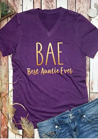 Bae Best Auntie Ever V-Neck T-Shirt