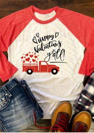 Happy Valentines Y'all Baseball T-Shirt