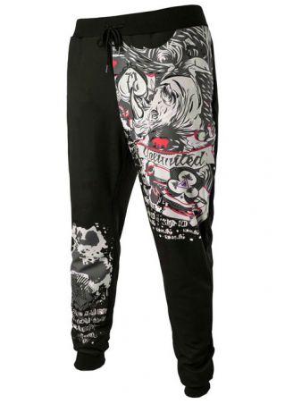 Printed Drawstring Sport Pants