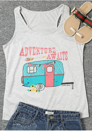 Adventure Awaits O-Neck Tank