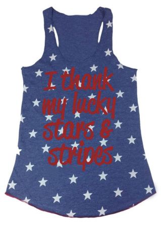 I Thank My Lucky Stars And Stripes Tank