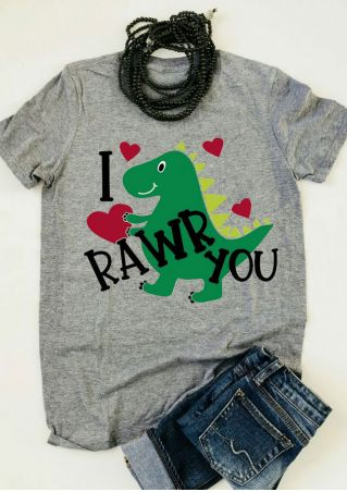 I Rawr You Dinosaur Heart T-Shirt