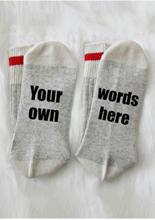 Your Own Words Here Socks