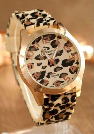 Leopard Printed Wrist Watch