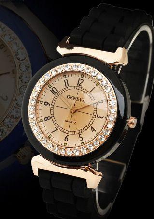 Imitated Crystal Quartz Wrist Watch