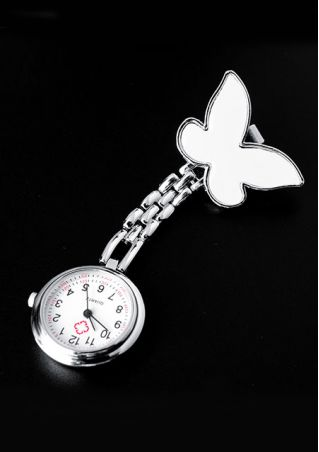 Butterfly Round Dial Nurse Watch
