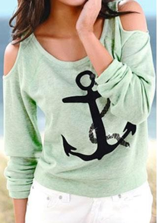 Off Shoulder Anchor Blouse