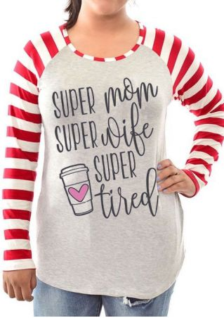 Plus Size Super Mom Super Wife Baseball T-Shirt