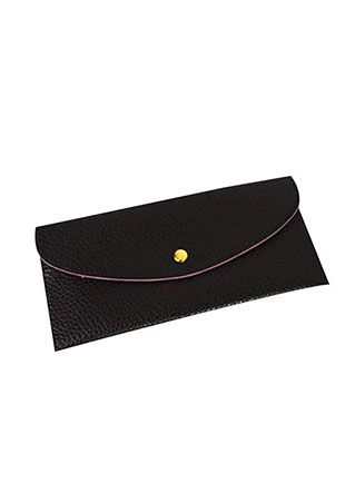 Solid PU Clutch Wallet