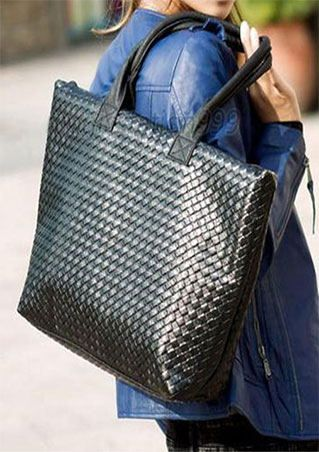 Solid PU Handbag