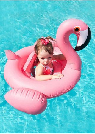 Inflatable Flamingo Baby Swim Float Seat