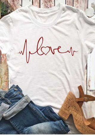 Love Heartbeat Short Sleeve T-Shirt