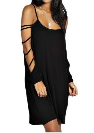Solid Off Shoulder Strap Dress Without Necklace