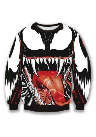Halloween Venom Printed Sweatshirt