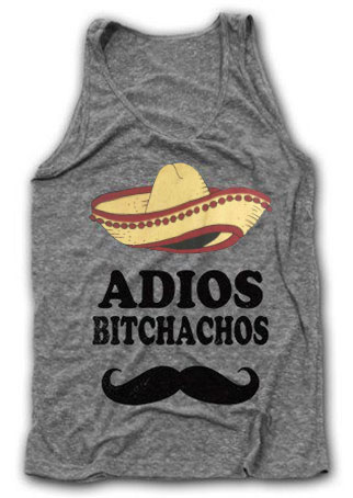 Image of Adios Bitchachos Hat Beard Tank