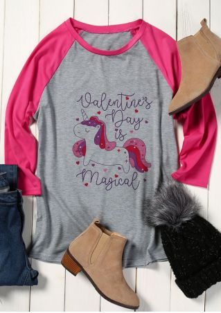 Unicorn Valentine's Day Is Magical Baseball T-Shirt