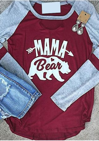 Mama Bear Arrow Baseball T-Shirt