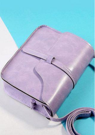 Solid Casual Shoulder Messenger Bag