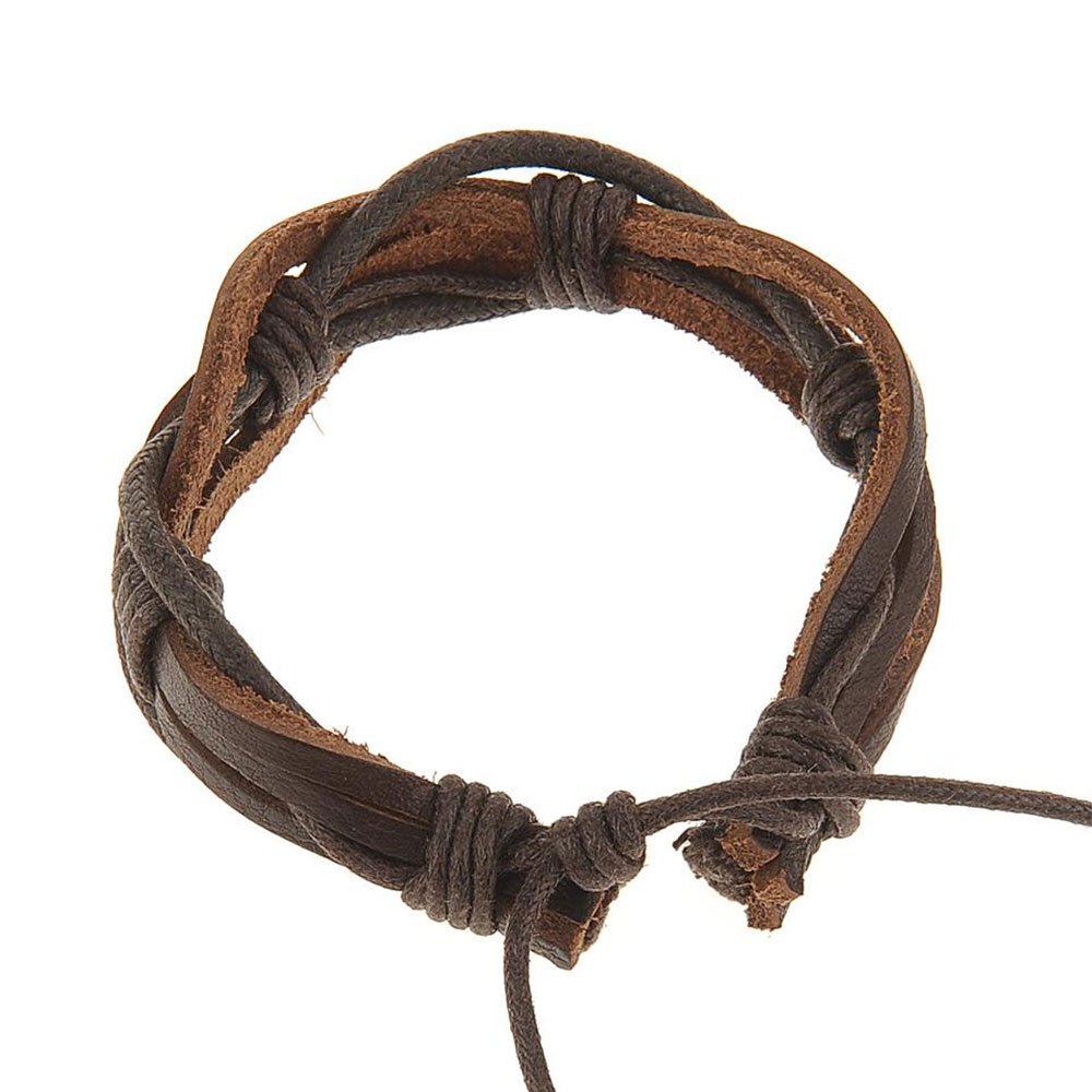 Image of Hemp Surfer Leather Bracelet