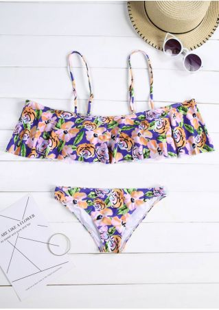 Floral Layered Bikini Set