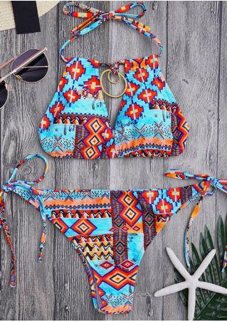 Geometric Printed Bikini Set