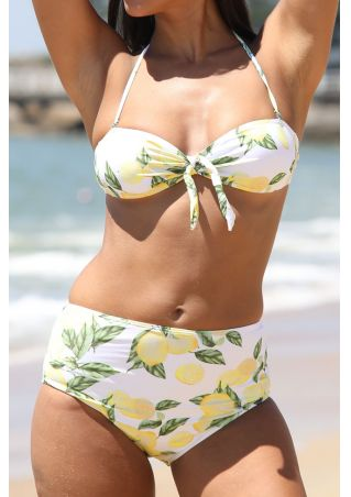 Lemon Halter Bikini Set