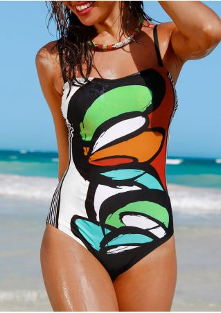 Printed Sexy Swimsuit without Necklace