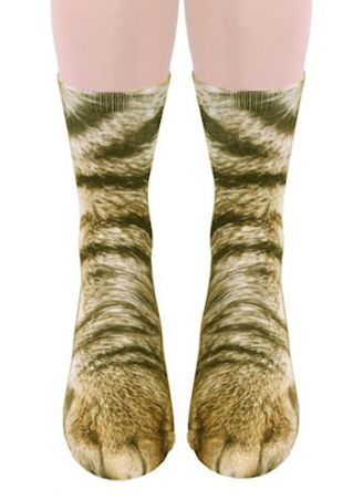 Cat Feet Simulation Crew Socks
