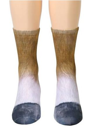 Horse Feet Simulation Crew Socks