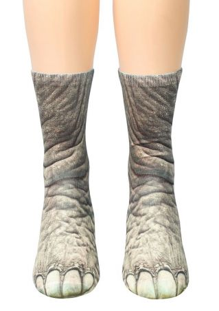 Elephant Feet Simulation Crew Socks