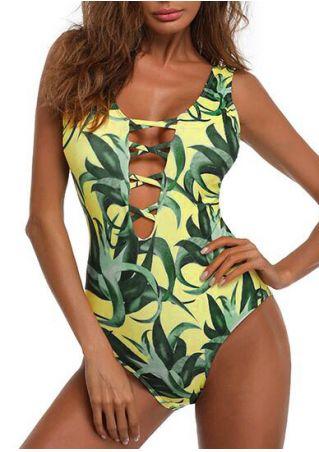 Aloe Criss-Cross Sexy One-Piece Swimsuit