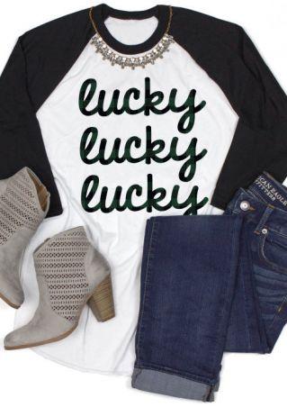 Lucky Lucky Lucky Baseball T-Shirt