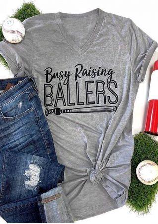Busy Raising Ballers Baseball Bat T-Shirt