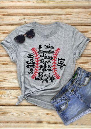 Softball Life O-Neck T-Shirt
