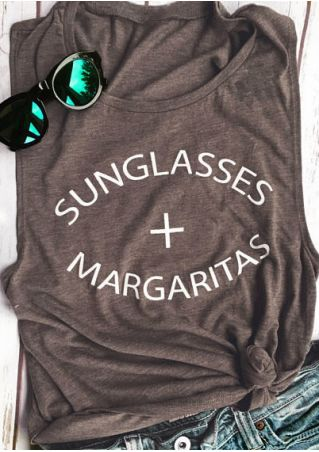 Sunglasses Margaritas O-Neck Tank
