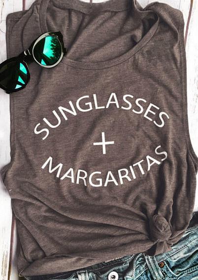 Sunglasses Margaritas O-Neck Tank 44257