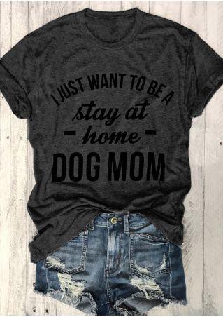 Dog Mom O-Neck Short Sleeve T-Shirt