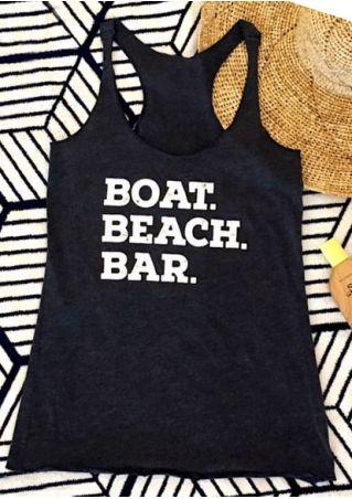 Boat Beach Bar Racerback Tank