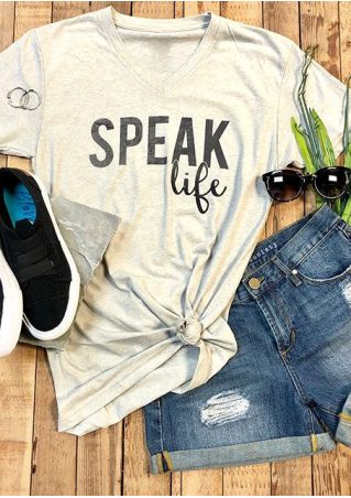 Speak Life V-Neck Short Sleeve T-Shirt