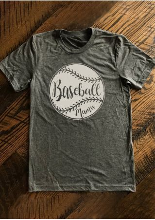 Baseball Mama O-Neck Short Sleeve T-Shirt