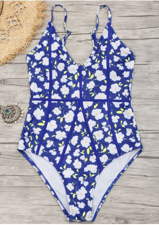 Floral Adjustable Strap Sexy Swimsuit