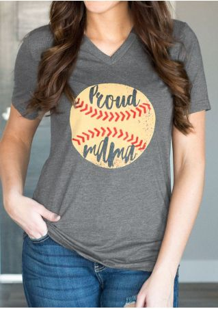 Proud Mama Baseball T-Shirt