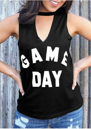 Game Day Deep V-Neck Tank