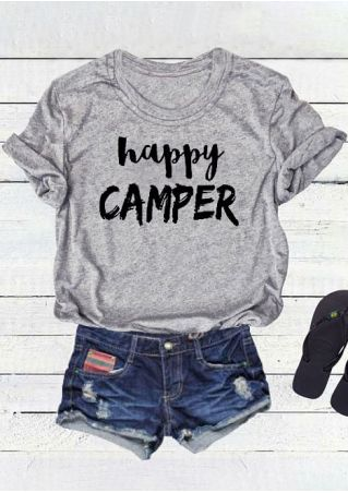 Happy Camper O-Neck T-Shirt