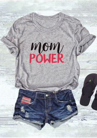 Mom Power O-Neck T-Shirt