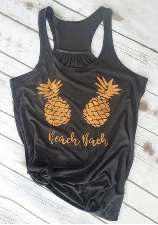 Beach Bach Pineapple Racerback Tank