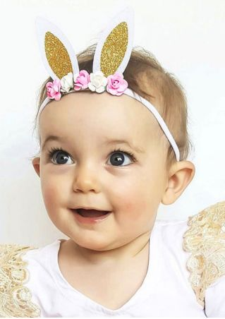 Rabbit Ear Shaped Flower Headband