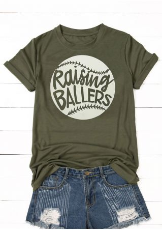 Baseball Raising Ballers O-Neck T-Shirt