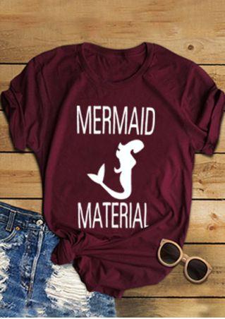 Mermaid Material O-Neck T-Shirt