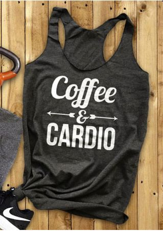 Coffee & Cardio Arrow Tank